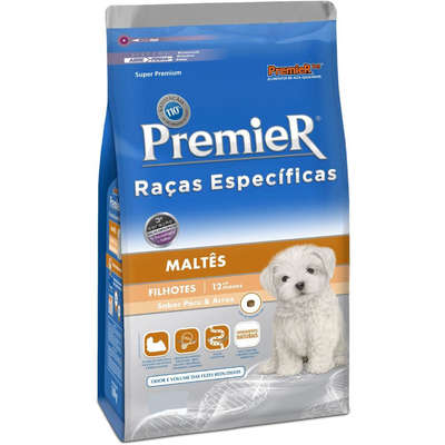 Premier Raças Específicas Maltês Filhotes 2,5kg