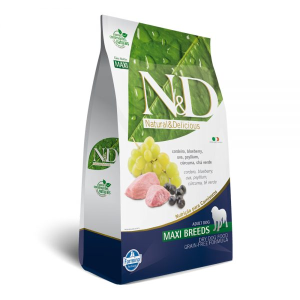 N&D Adult Cordeiro e Blueberry Maxi Breeds Grain Free 10,1kg