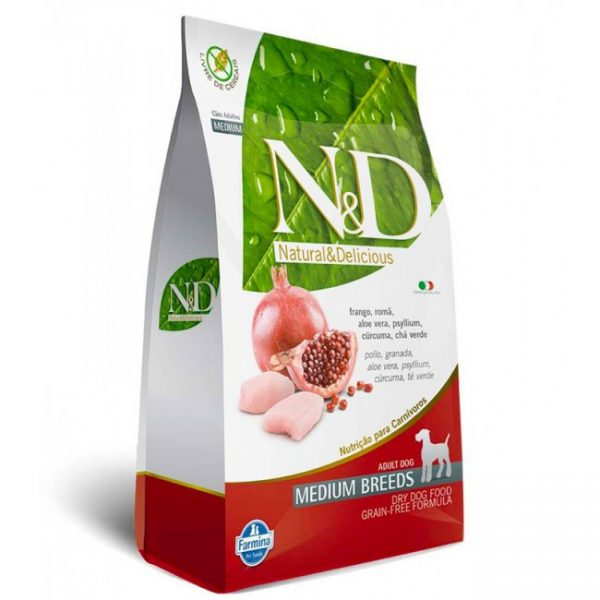 N&D Adult Frango e Romã Medium Grain Free