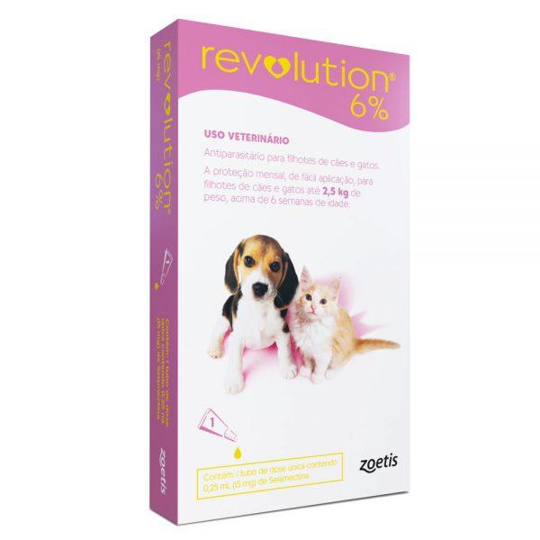 Revolution 6% para Cães e Gatos até 2,5 kg