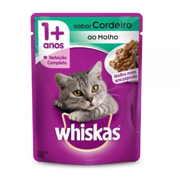 Whiskas-Sache-Gatos-Adultos-Sabor-Cordeiro-ao-Molho-85g